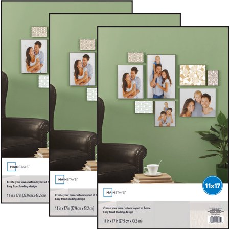 Mainstays 11 x 17 Format Picture Frame, 3pack
