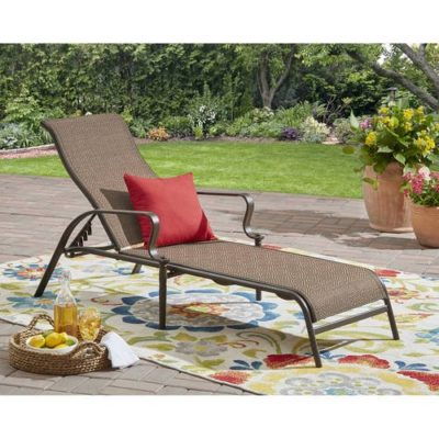 Mainstays Wesley Creek Outdoor Sling Chaise Lounge