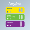 Stayfree Ultra Thin, Overnight Pads with Wings, Unscented, 40 Ct