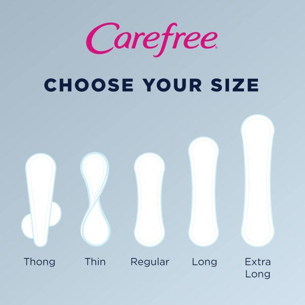 Carefree Original Thin Daily Panty Liners, Long, Unscented, 92 Ct