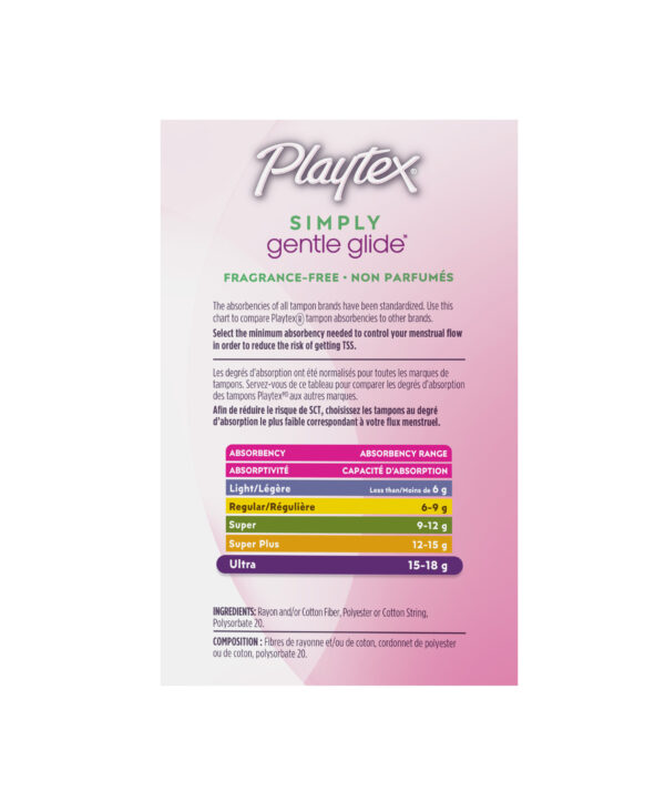 Playtex Simply Gentle Glide, Ultra Tampons, Unscented, 36 Ct
